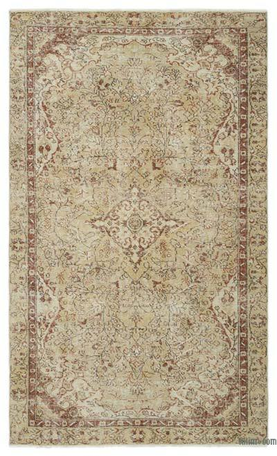 "Over-dyed Turkish Vintage Rug - 4'9"" x 8' (57 in. x 96 in.)"