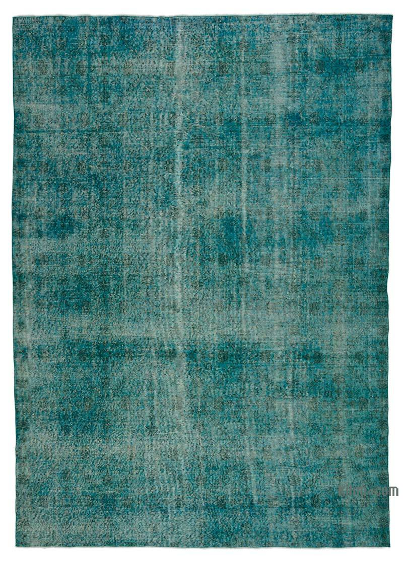 K0024739 Turquoise Over Dyed Turkish Vintage Rug 6 10