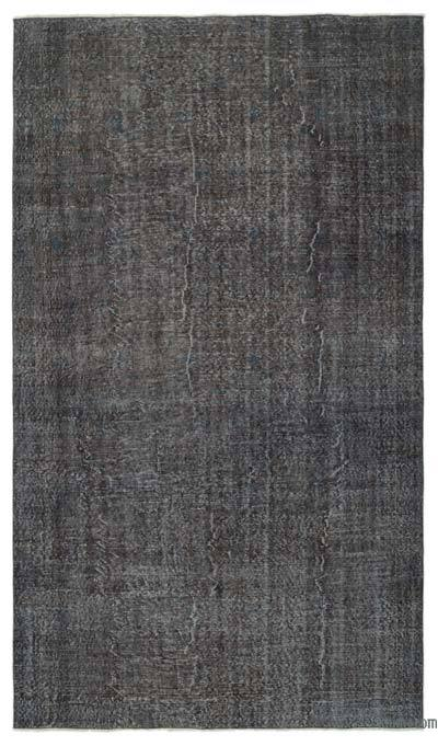 Grey Over-dyed Turkish Vintage Rug - 5'10'' x 10'2'' (70 in. x 122 in.)