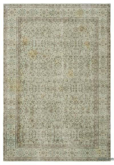 "Over-dyed Turkish Vintage Rug - 6'9"" x 9'11"" (81 in. x 119 in.)"