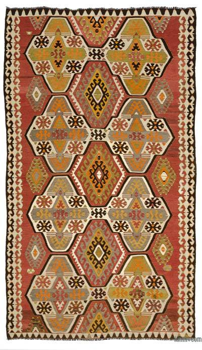 Red Vintage Mut Kilim Rug - 5'11'' x 10'5'' (71 in. x 125 in.)