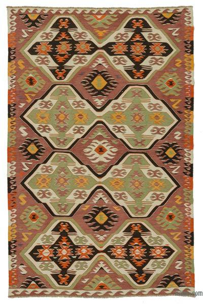 Red Vintage Mut Kilim Rug - 5'11'' x 9'4'' (71 in. x 112 in.)