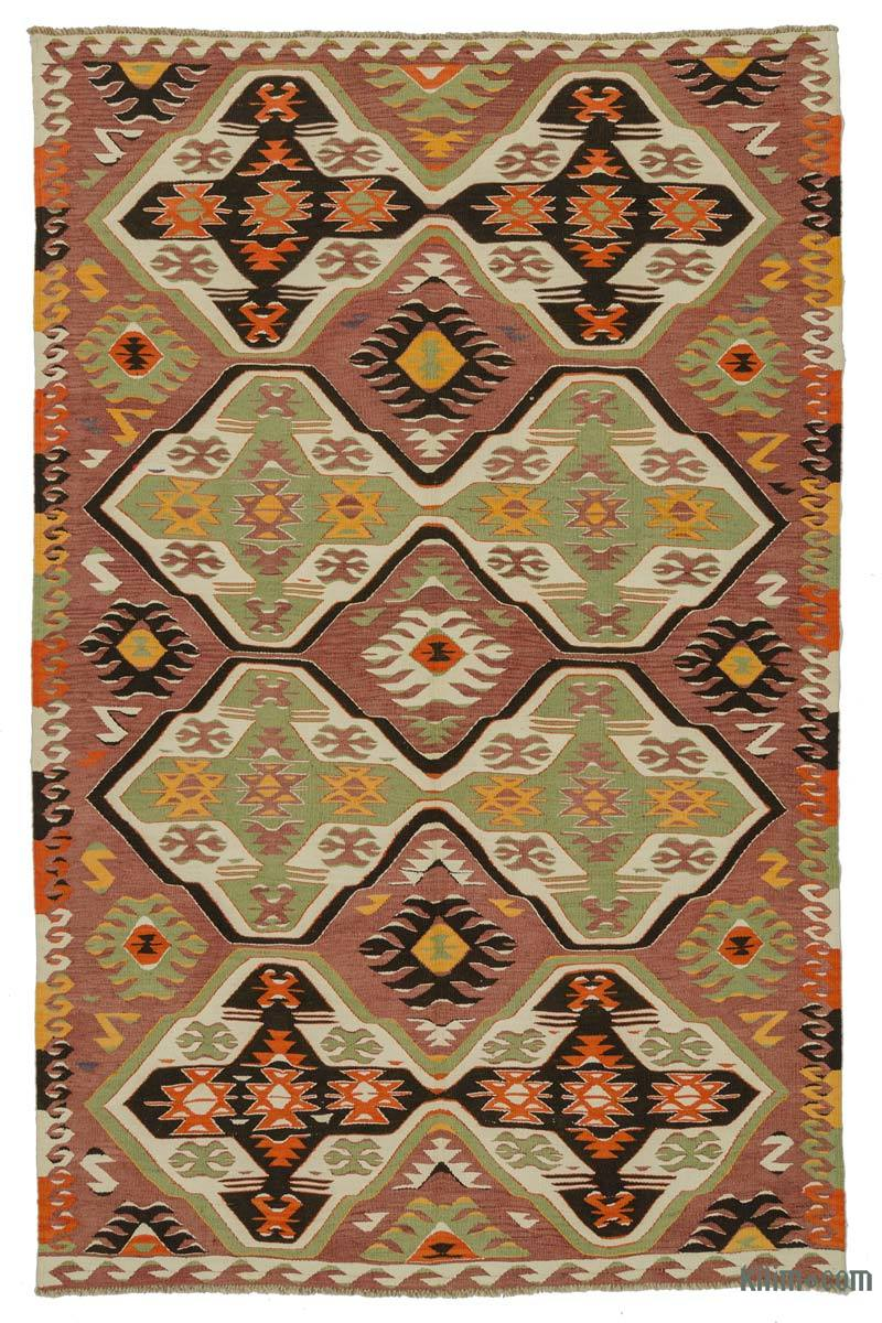 K0025084 Red Vintage Mut Kilim Rug 5 11 Quot X 9 4 Quot 71 In