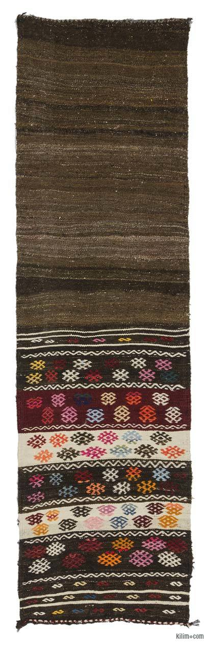 Vintage Turkish Kilim Runner - 2'4'' x 8' (28 in. x 96 in.)