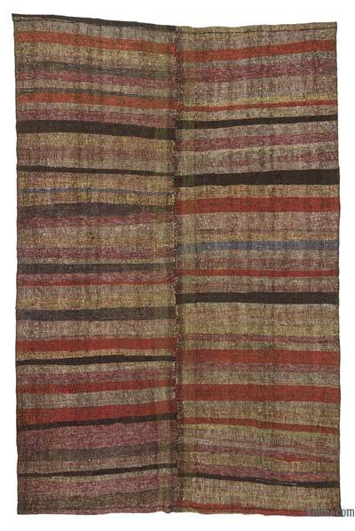 "Vintage Turkish Pala Kilim (Chaput) - 5'11"" x 9'2"" (71 in. x 110 in.)"