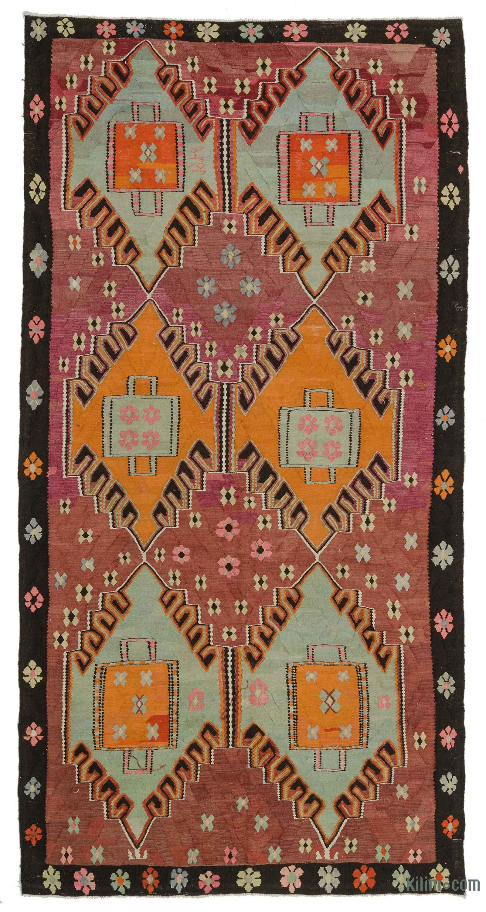 Tribal Rugs Kilim Rugs Overdyed Vintage Rugs Handmade Turkish
