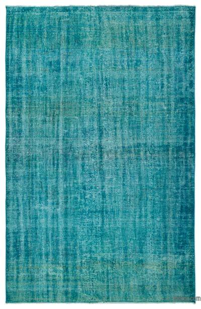 Turquoise Over-dyed Turkish Vintage Rug - 5'11'' x 9' (71 in. x 108 in.)