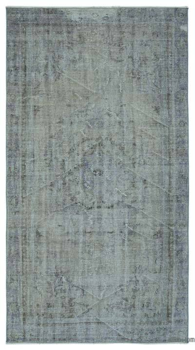 "Over-dyed Turkish Vintage Rug - 4'9"" x 8'9"" (57 in. x 105 in.)"