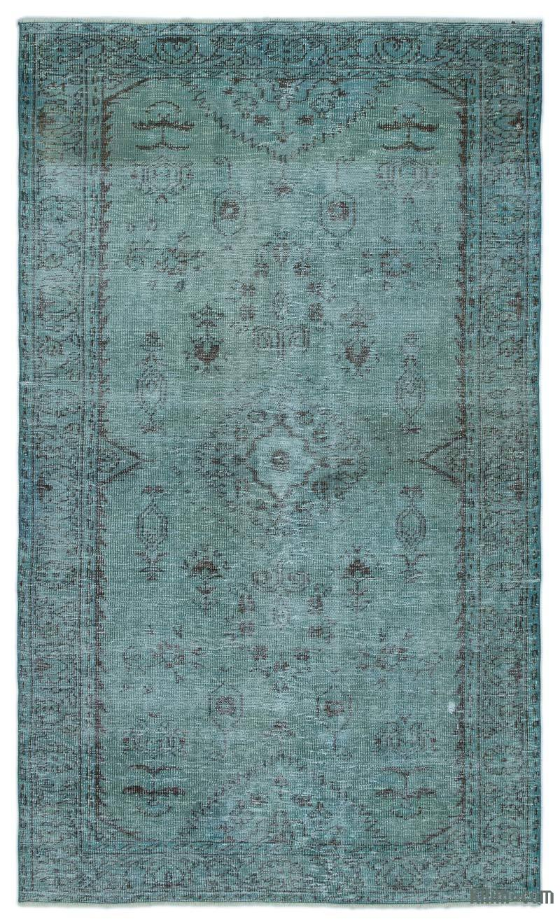 Vintage Overdyed Turkish Rugs K0025302 Blue Dyed Turkish Vintage Rug Kilim  Rugs
