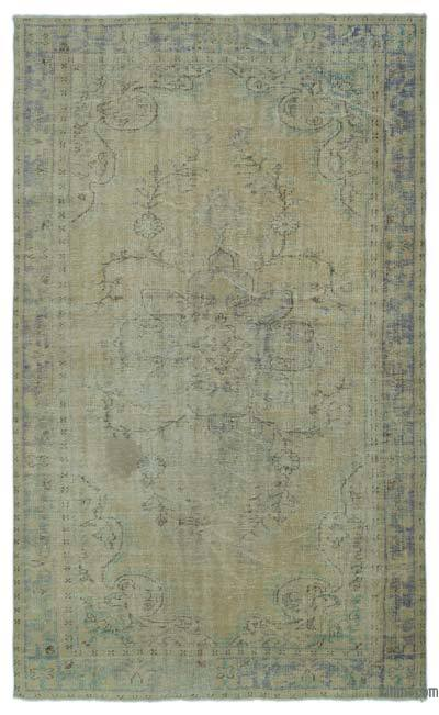 Over-dyed Turkish Vintage Rug - 6'3'' x 10'4'' (75 in. x 124 in.)
