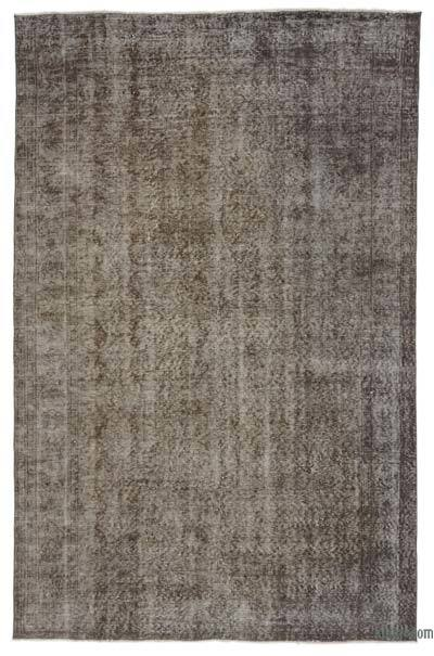 Grey Over-dyed Turkish Vintage Rug - 5'8'' x 8'11'' (68 in. x 107 in.)