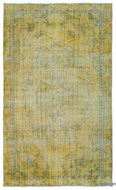"Over-dyed Turkish Vintage Rug - 5'8"" x 9' (68 in. x 108 in.)"