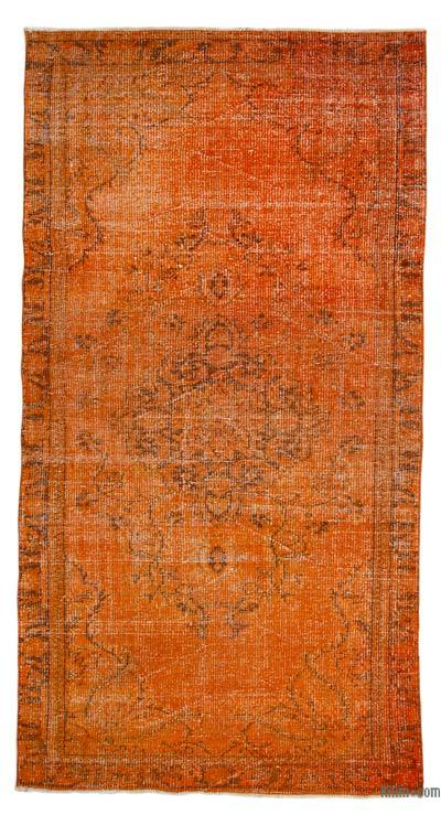 "Over-dyed Turkish Vintage Rug - 4'1"" x 7'9"" (49 in. x 93 in.)"