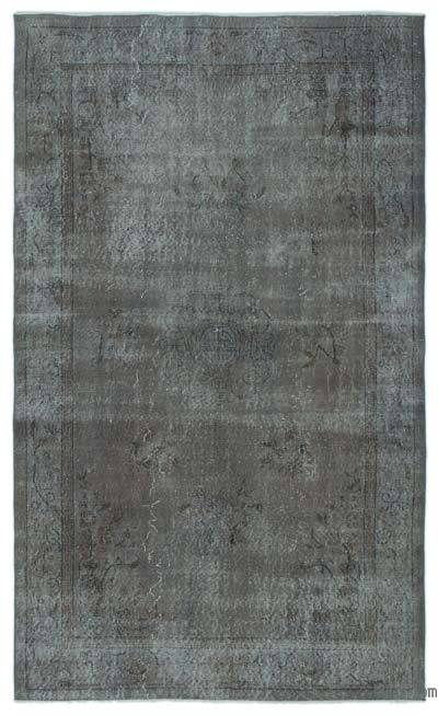 Over-dyed Turkish Vintage Rug - 5'5'' x 9' (65 in. x 108 in.)