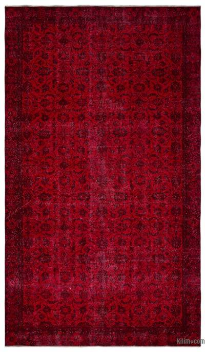 Over-dyed Turkish Vintage Rug - 5'8'' x 9'9'' (68 in. x 117 in.)