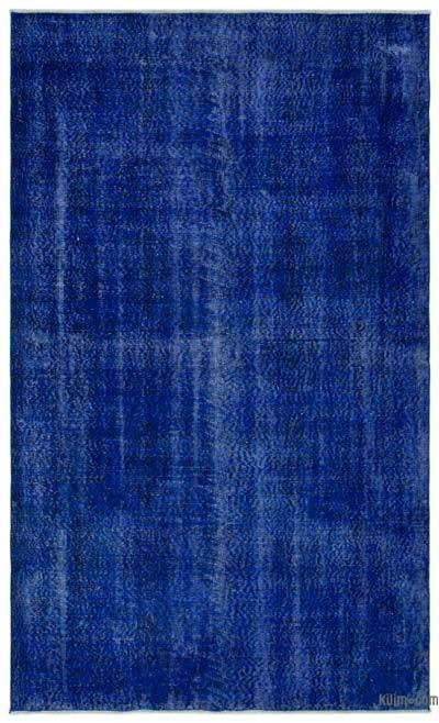 Blue Over-dyed Turkish Vintage Rug - 5'1'' x 8'6'' (61 in. x 102 in.)