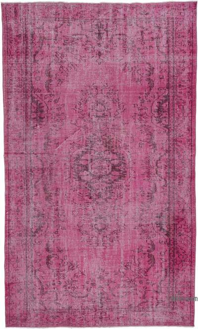 Pink Over-dyed Turkish Vintage Rug - 5'5'' x 9'1'' (65 in. x 109 in.)