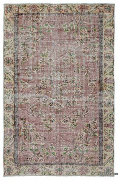 Turkish Vintage Rug - 5'3'' x 8' (63 in. x 96 in.)