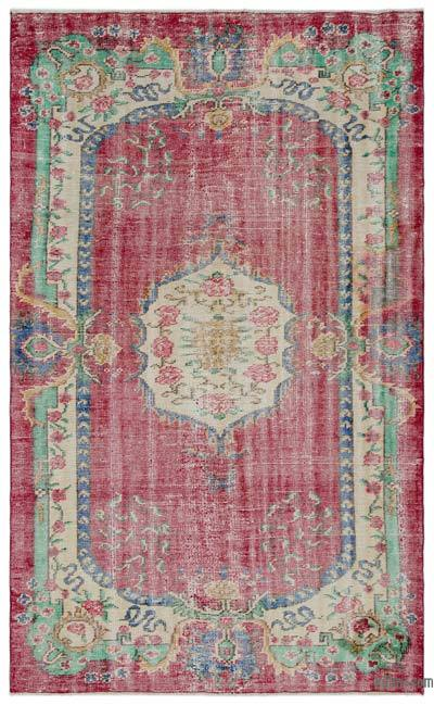 "Turkish Vintage Area Rug - 5'1"" x 8'2"" (61 in. x 98 in.)"