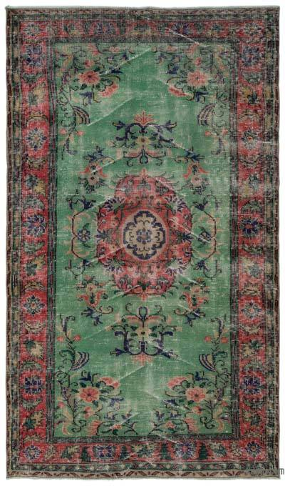 "Turkish Vintage Area Rug - 4'9"" x 8'6"" (57 in. x 102 in.)"