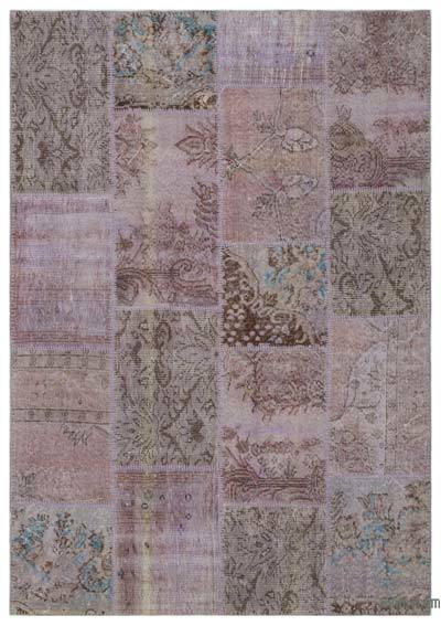 Over-dyed Turkish Patchwork Rug - 5'3'' x 7'8'' (63 in. x 92 in.)