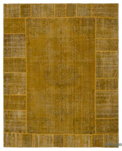 Over-dyed Turkish Patchwork Rug - 8' x 9'11'' (96 in. x 119 in.)