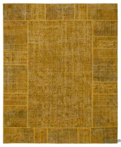 Over-dyed Turkish Patchwork Rug - 8'2'' x 10' (98 in. x 120 in.)
