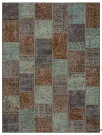 Over-dyed Turkish Patchwork Rug - 9' x 12' (108 in. x 144 in.)