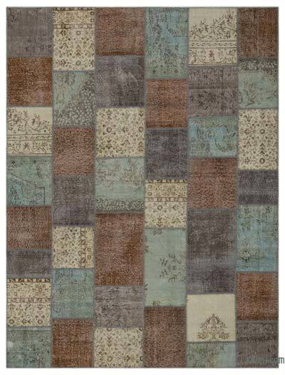 Multicolor Over-dyed Turkish Patchwork Rug - 9' x 12' (108 in. x 144 in.)