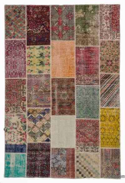 Turkish Patchwork Rug - 6'7'' x 9'11'' (79 in. x 119 in.)