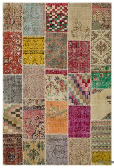 Vintage Patchwork Rugs Kilim Overdyed Hand