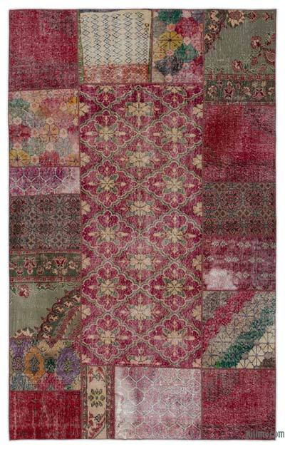 "Turkish Patchwork Rug - 5'10"" x 9'3"" (70 in. x 111 in.)"