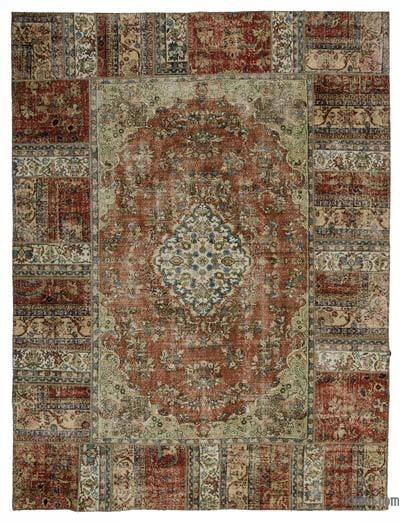 Multicolor Turkish Patchwork Rug - 9' x 11'10'' (108 in. x 142 in.)