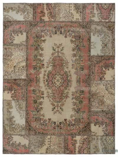 "Turkish Patchwork Rug - 9'1"" x 12' (109 in. x 144 in.)"