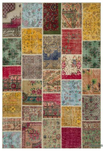 Turkish Patchwork Rug - 6'3'' x 9'2'' (75 in. x 110 in.)