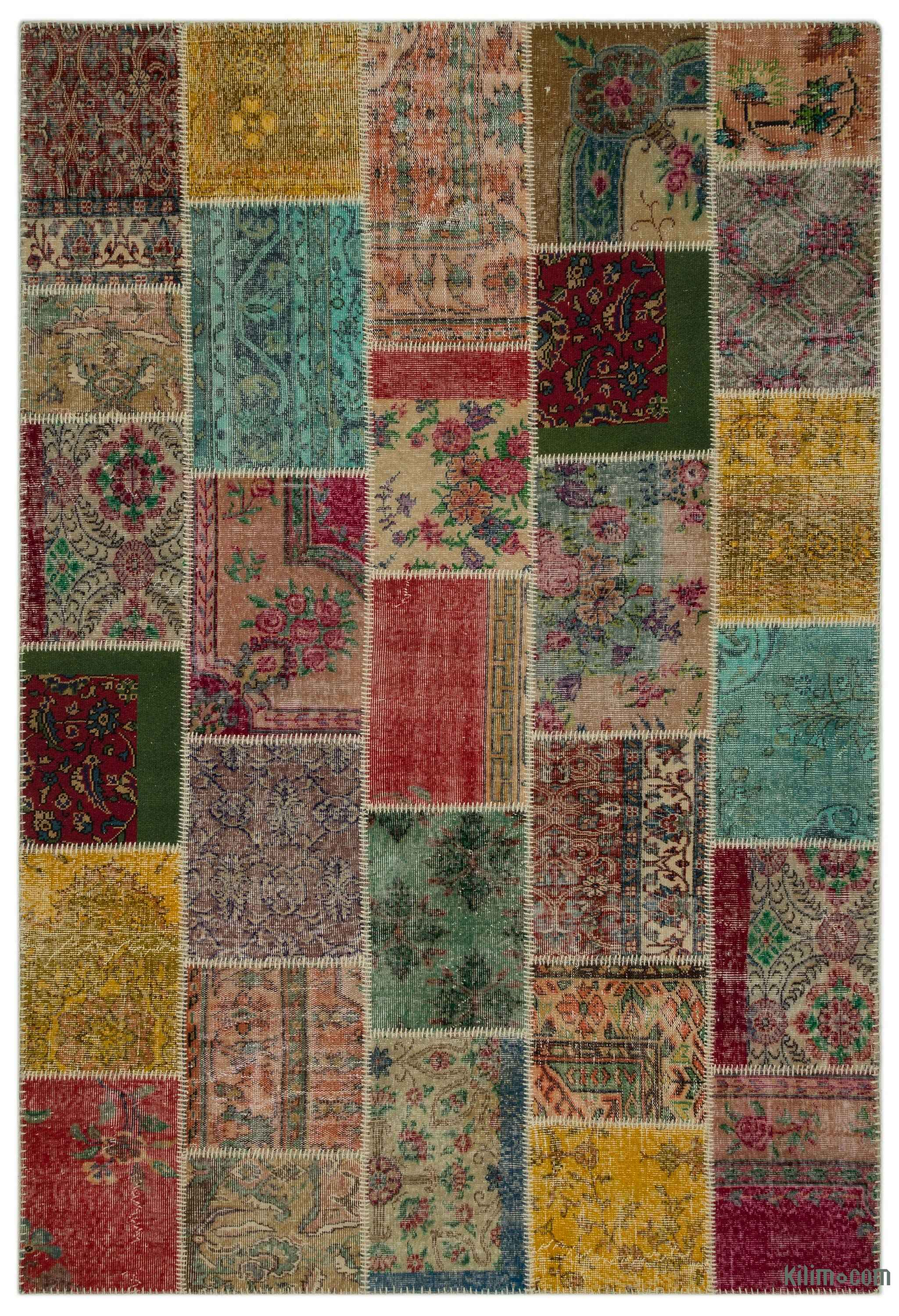 K0027092 Turkish Patchwork Rug 6 3 X 9 2 75 In X 110 In