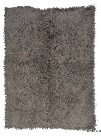 Grey Vintage Turkish Tulu Rug - 5'1'' x 7' (61 in. x 84 in.)