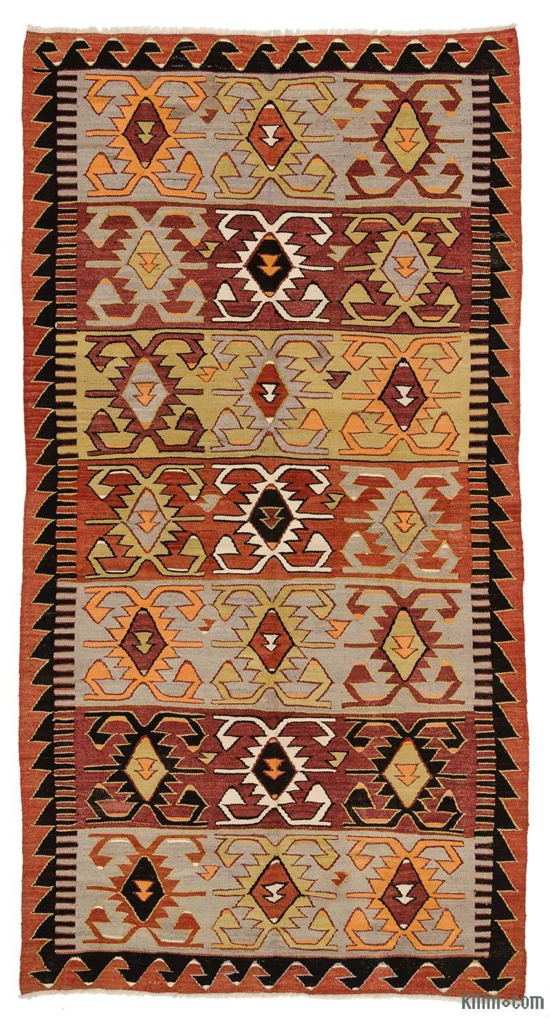 K0027353 Vintage Konya Kilim Rug 5 7 X 10 4 67 In