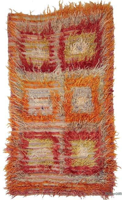 Multicolor Vintage Filikli Tulu Rug - 3'4'' x 5'9'' (40 in. x 69 in.)