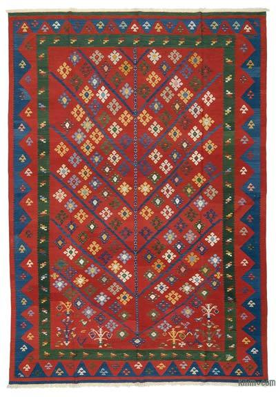 "New Handwoven Turkish Kilim Rug - 8' x 11'7"" (96 in. x 139 in.)"