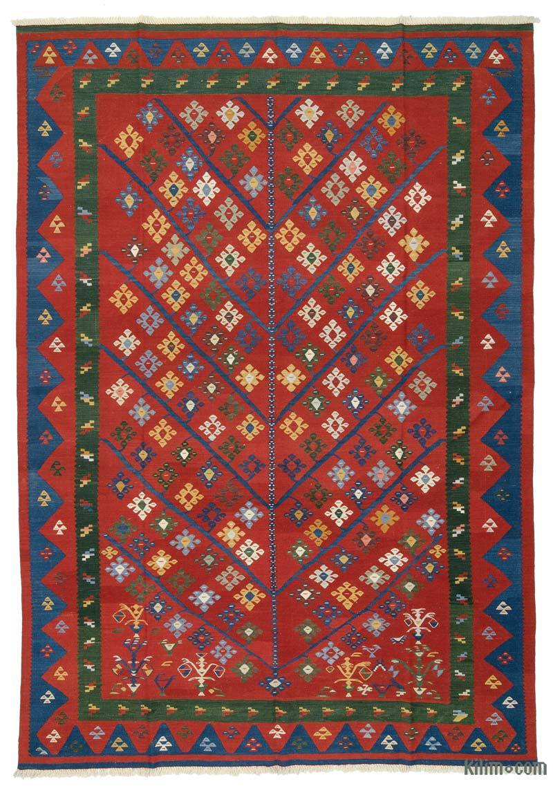 Rugs And Kilims Are The Master Elements Of Bohemian Style: K0027667 Red New Turkish Kilim Rug