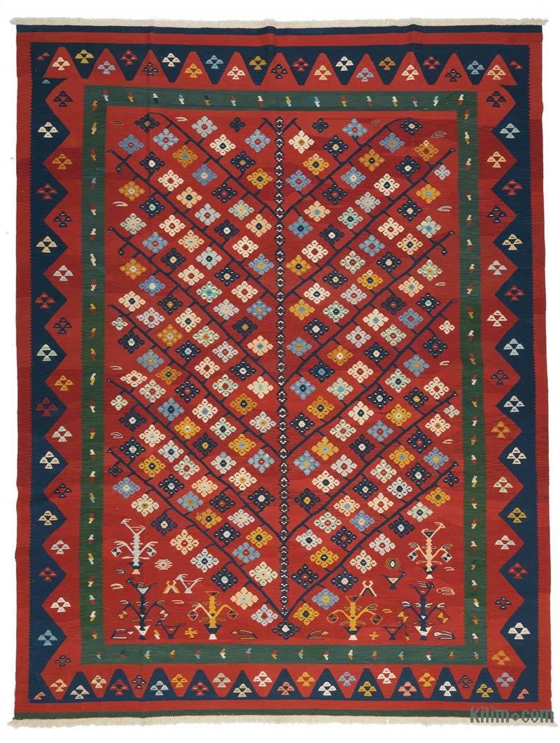 K0027671 Rojo Nueva Alfombra Turca Kilim