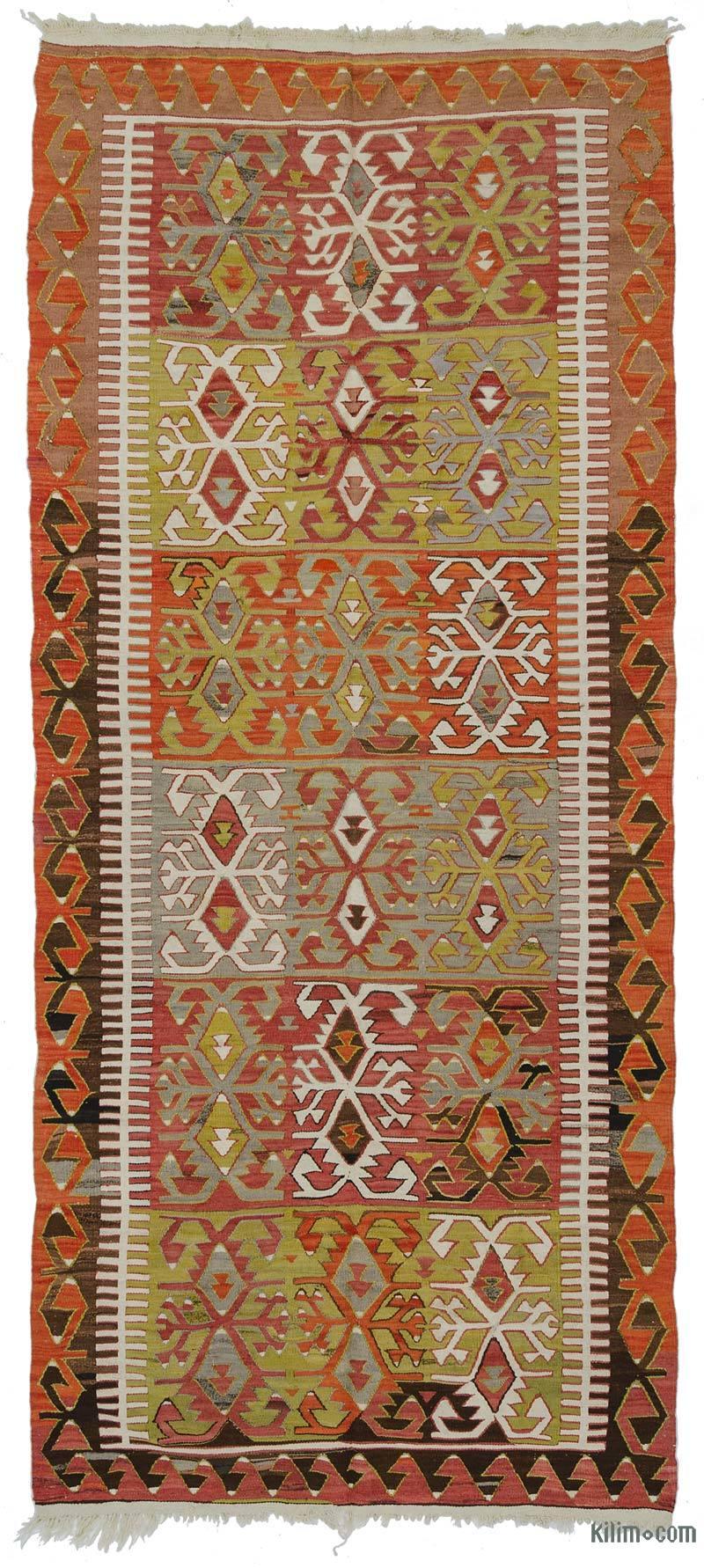 K0027729 Multicolor Vintage Konya Kilim Rug 4 8 Quot X 10 10