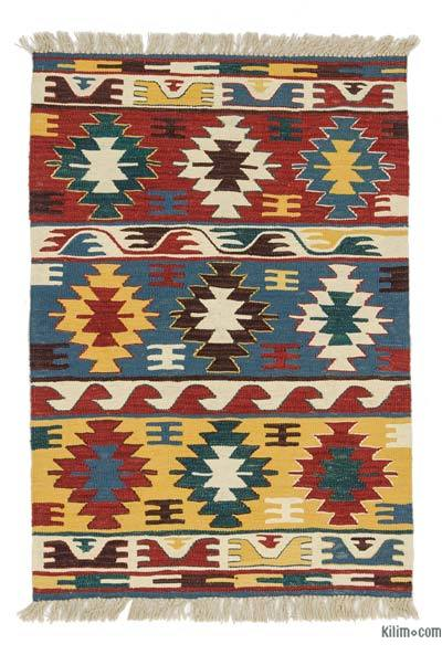 "New Handwoven Turkish Kilim Rug - 2'8"" x 3'11"" (32 in. x 47 in.)"