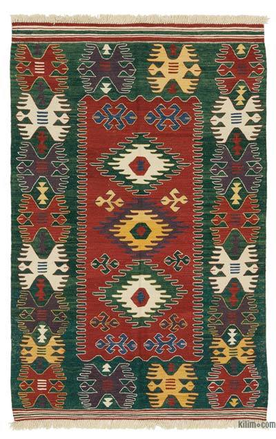 "New Handwoven Turkish Kilim Rug - 4'3"" x 6'7"" (51 in. x 79 in.)"