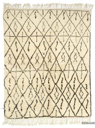 Beige New Turkish Tulu Rug - 6'4'' x 8'1'' (76 in. x 97 in.)
