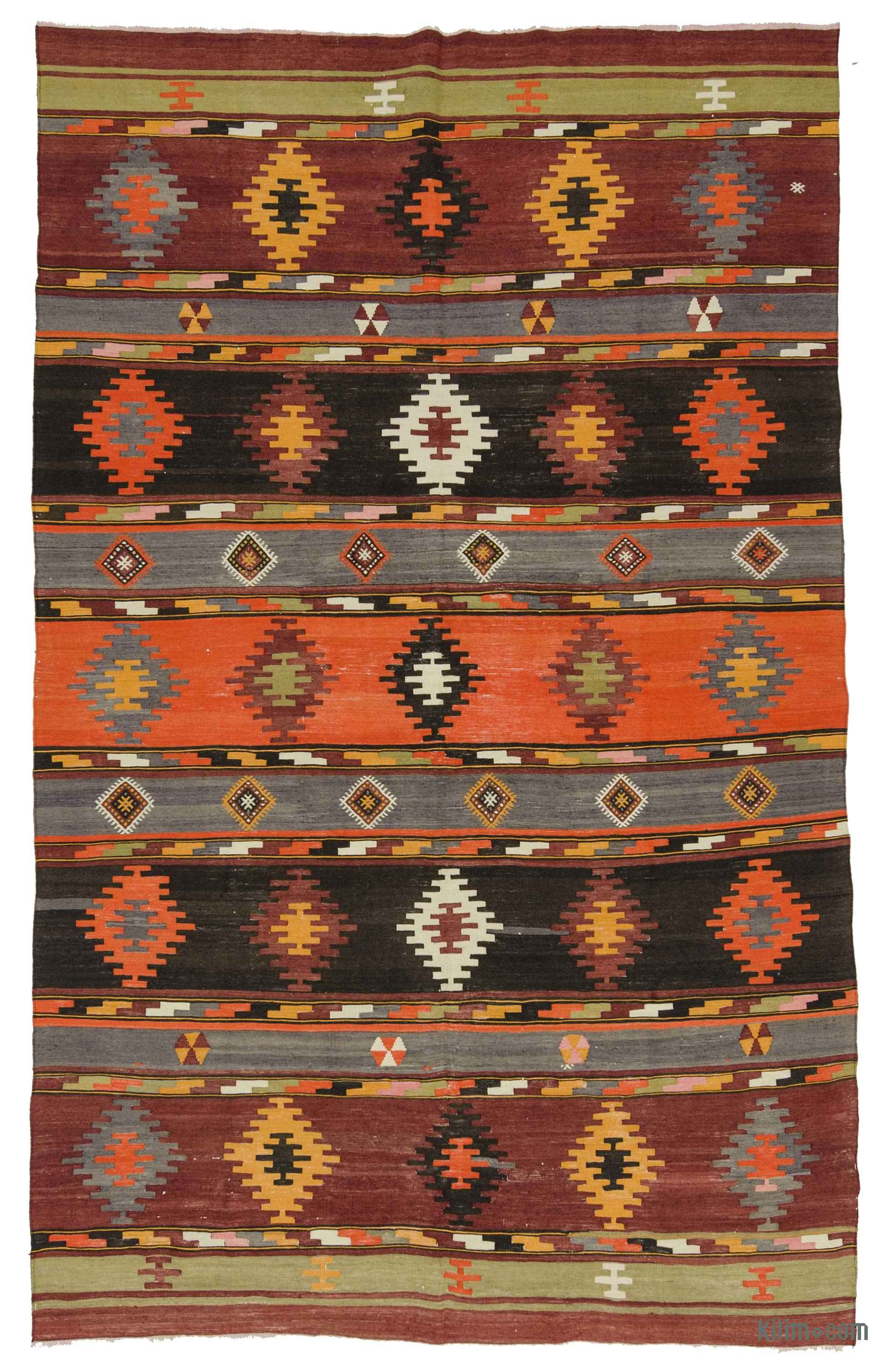 85b3710b6 K0027817 Multicolor Vintage Sivas Kilim Rug - 6'1'' x 9'6'' (73 in. x 114  in.)   Kilim.com: The Source for Authentic Vintage Rugs, Kilims, Overdyed  Oriental ...