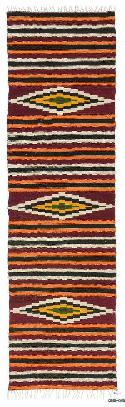 "Vintage Turkish Kilim Runner - 2'6"" x 9' (30 in. x 108 in.)"
