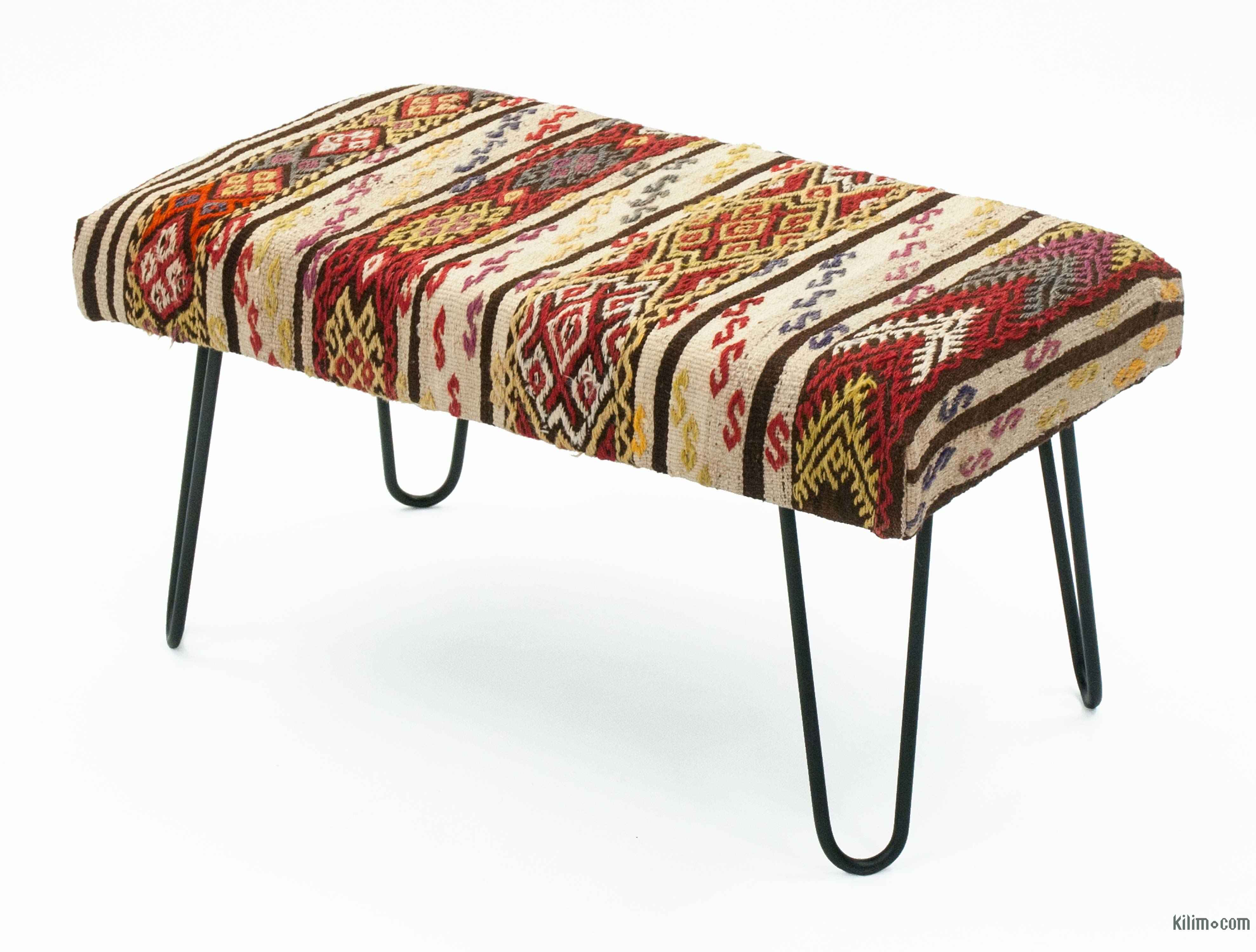 K0027870 Kilim Bench With Hairpin Legs Kilimcom The Source For
