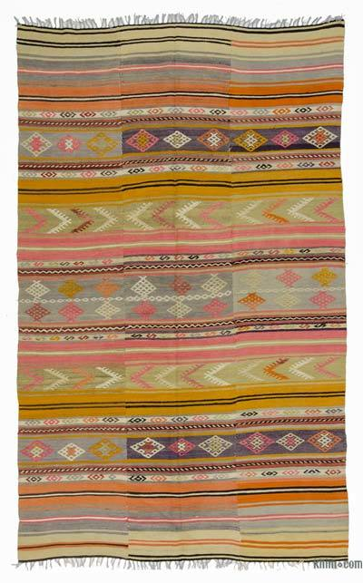 "Vintage Turkish Kilim Rug - 4'9"" x 7'8"" (57 in. x 92 in.)"